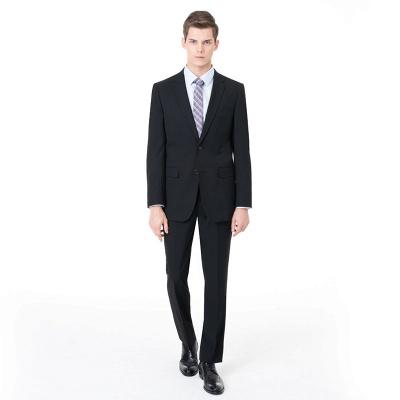 Slim Fit Peak Lapel Two-piece Suit Two Button Casual Suits_1