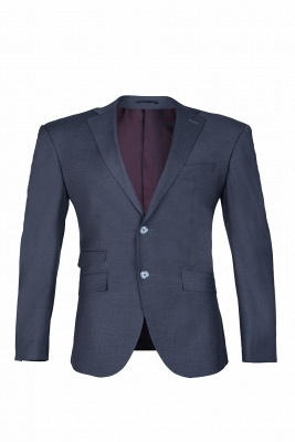 Dark Navy Hot Recommend Popular Peak Lapel Single Breasted Best Men Groomsmen_1