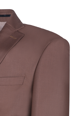 Chocolate Stylish Design Peak Lapel Two Button Single Breasted Wedding Suit_5