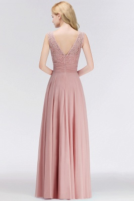 Long Lace Floor-Length Sleeveless Scoop Gorgeous Chiffon Bridesmaid Dress_3