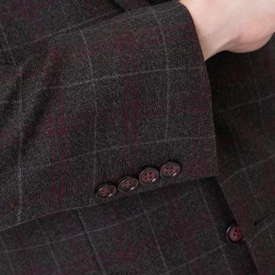 Comfortable Groomsmen Lattice Peak Lapel Two-piece Suit Wedding Suits_4
