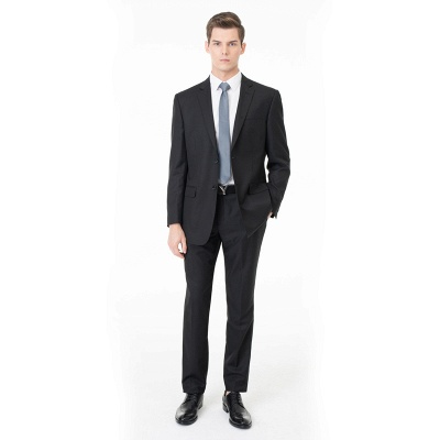 Two Pieces with Pants Single Breasted Peak Lapel Latest Design_3