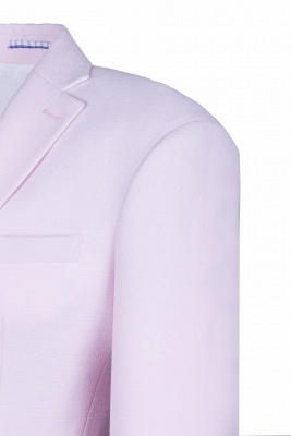 Candy Pink High Quality Single Breasted Peak Lapel Wedding Suit_5