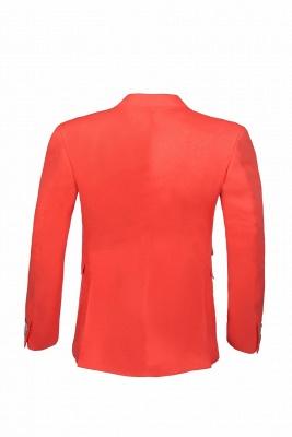 High Quality Latest Design Watermelon Peak Lapel Wedding Suit Back Vent_3