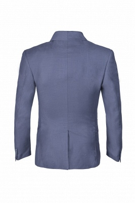 Shawl Lapel Two Button Back Vent Light Grey Single Breasted Casual Suit_3