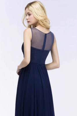 A-line  Appliques Scoop Sleeveless Floor-Length Bridesmaid Dresses_5