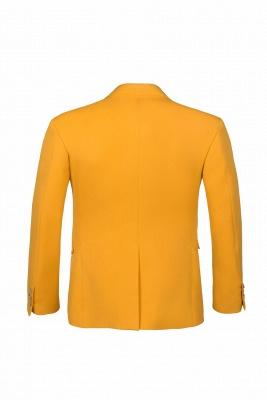 Custom Made Slim Fit Orange Peak Lapel One Button Casual Suit Groomsmen_3