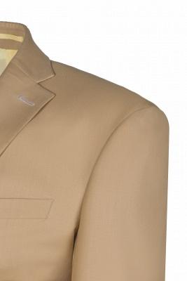Latest Design Two Button Nude Color Peak Lapel Bridegroom Wedding Suit_4
