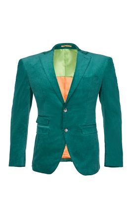 Customize Hot Recommend Single Breasted Peak Lapel Turquoise Groomsmen_1