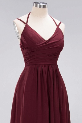 A-line  Spaghetti Straps Sleeveless Ruffles Floor-Length Bridesmaid Dresses_30