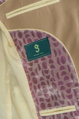 Latest Design Two Button Nude Color Peak Lapel Bridegroom Wedding Suit_5