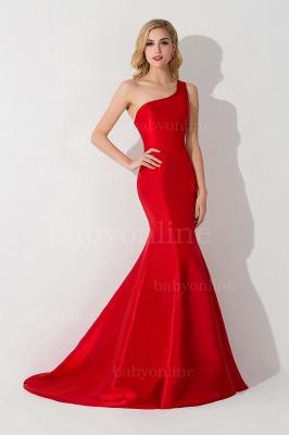 Mermaid Satin One-Shoulder Sleeveless Floor-Length Bridesmaid Dress_5
