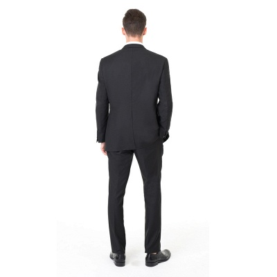 Two Pieces with Pants Single Breasted Peak Lapel Latest Design_2