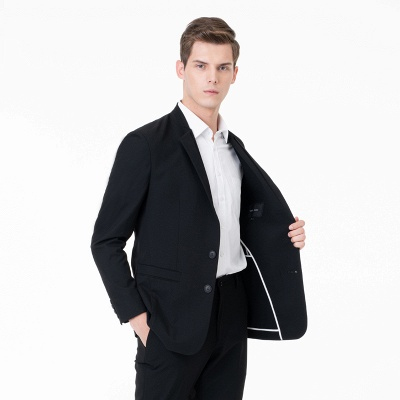 Two-piece Suit Peak Lapel Single Breasted Casual Suits_3