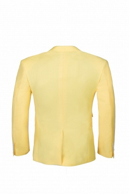 Noched Lapel Two Button Single Breasted Daffodil Wedding Suit Slim Fit_3