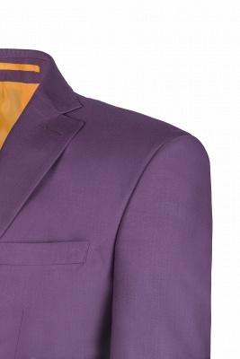 Latest Design Lilac Peak Lapel Single Breasted Wedding Suit Back Vent_5