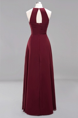 A-Line  Halter Ruffles Floor-Length Bridesmaid Dress_42