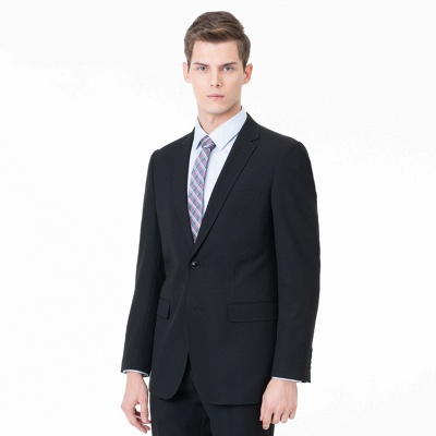 Slim Fit Peak Lapel Two-piece Suit Two Button Casual Suits_5