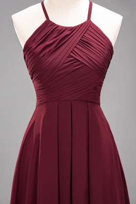A-Line  Halter Ruffles Floor-Length Bridesmaid Dress_45