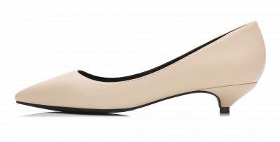 Woman Pointed Toe Kitten Heel Wedding Shoes_5