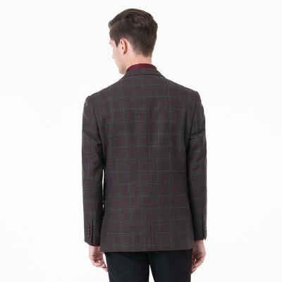 Comfortable Groomsmen Lattice Peak Lapel Two-piece Suit Wedding Suits_2