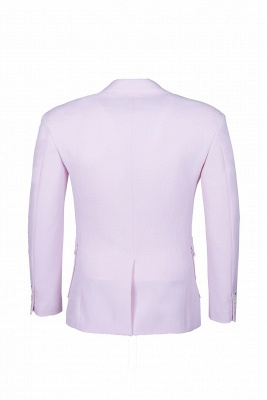 Candy Pink High Quality Single Breasted Peak Lapel Wedding Suit_3