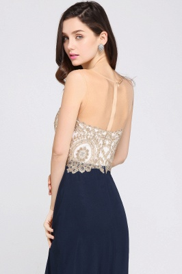 A-Line   Lace Scoop Sleeveless Floor-Length Bridesmaid Dress with Beadings_5