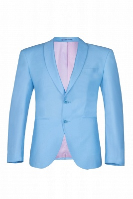 Custom Made Pool Shawl Lapel Two Button Single Breasted Wedding Suits_1