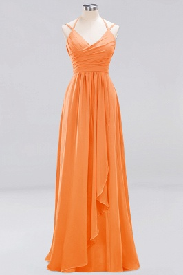 A-line  Spaghetti Straps Sleeveless Ruffles Floor-Length Bridesmaid Dresses_9