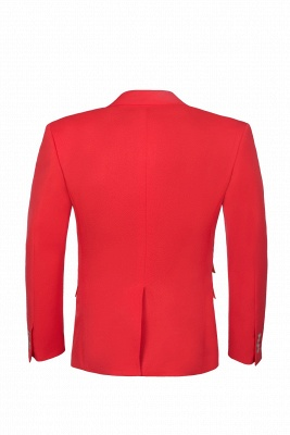 Red Peak Lapel Single Breasted High Quality Wedding Prom Suits_3