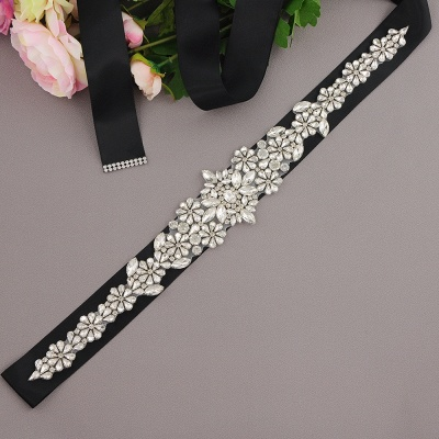 Gorgeous Satin Beadings Wedding Sash_8