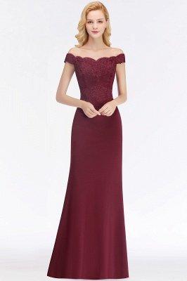 Green Elegant Lace Mermaid Off-The-Shoulder Bridesmaid Dresses_3