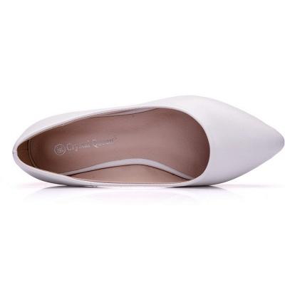 Woman Round Toe PU Flat Wedding Shoes_6