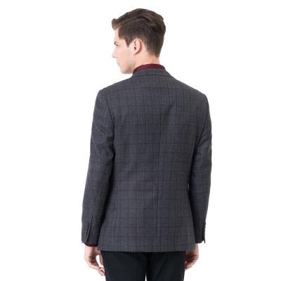 Career Suits Two Button Single Breasted Lattice Peak Lapel_2