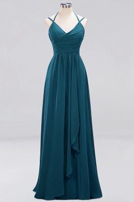 A-line  Spaghetti Straps Sleeveless Ruffles Floor-Length Bridesmaid Dresses_17