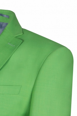 Popular Stylish Design Jade Single Breasted Back Vent Peak Lapel_5
