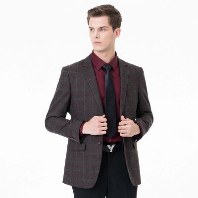 Comfortable Groomsmen Lattice Peak Lapel Two-piece Suit Wedding Suits_1