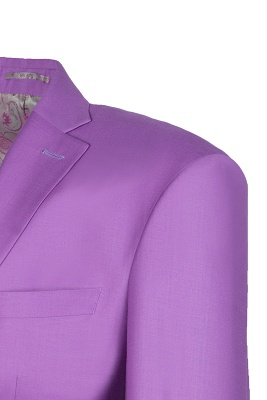Latest Design High Quality Peak Lapel Single Breasted Two Button Lilac_5