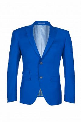 Royal Blue Peak Lapel High Quality Fashion Custom Made Wedding Suit_1