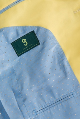 Noched Lapel Two Button Single Breasted Daffodil Wedding Suit Slim Fit_6