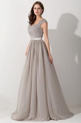 A-line  V-Neck Sleeveless Ruffles Floor-Length Bridesmaid Dress with Appliques_3