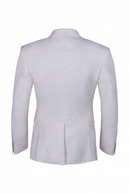Customize Casual Suit Groomsmen Ivory Peak Lapel Single Breasted High Quality_3