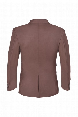 Chocolate Stylish Design Peak Lapel Two Button Single Breasted Wedding Suit_3