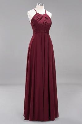 A-Line  Halter Ruffles Floor-Length Bridesmaid Dress_43