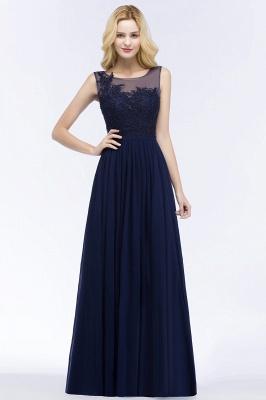 A-line  Appliques Scoop Sleeveless Floor-Length Bridesmaid Dresses_1