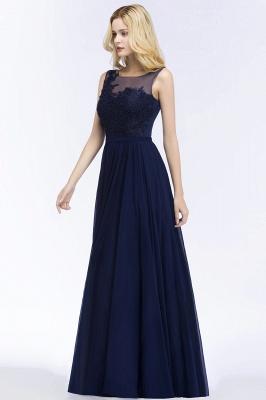 A-line  Appliques Scoop Sleeveless Floor-Length Bridesmaid Dresses_3