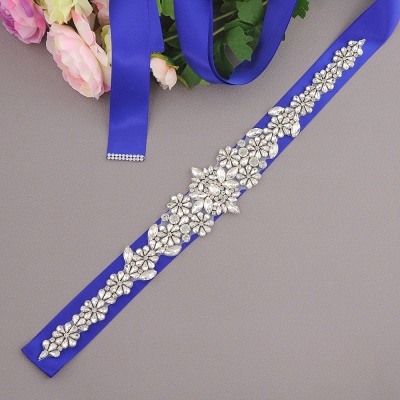 Gorgeous Satin Beadings Wedding Sash_5
