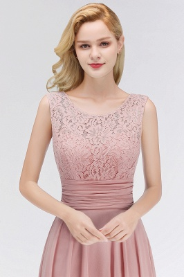 Long Lace Floor-Length Sleeveless Scoop Gorgeous Chiffon Bridesmaid Dress_2