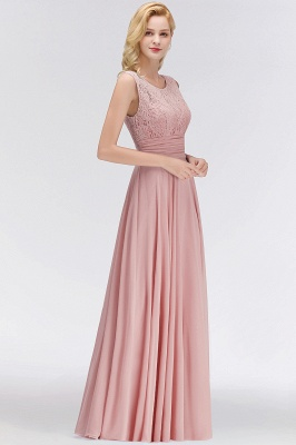 Long Lace Floor-Length Sleeveless Scoop Gorgeous Chiffon Bridesmaid Dress_4