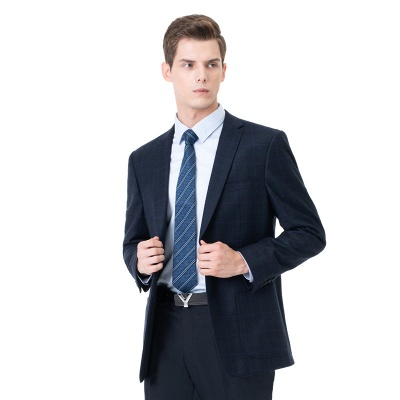Two-piece Suit Two Button Single Breasted Peak Lapel Fashion Groomsmen_3